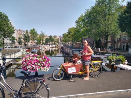 bici cargo bike amsterdam bakfiets niños 3