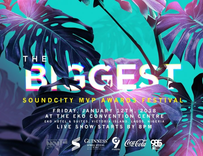 Nominees Unveiled For 2017 Soundcity MVP Awards Festival