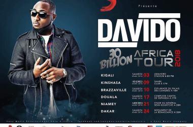 Davido Set To Embark On 30Billion African Tour 2018