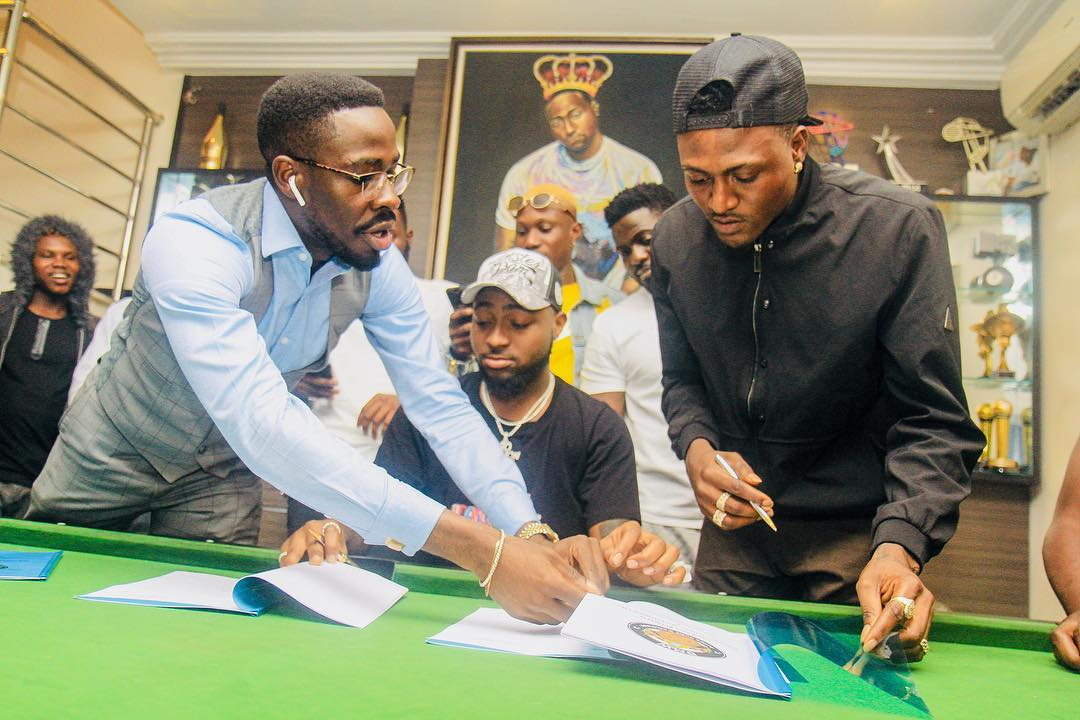 Davido Officially Signs Idowest To DMW