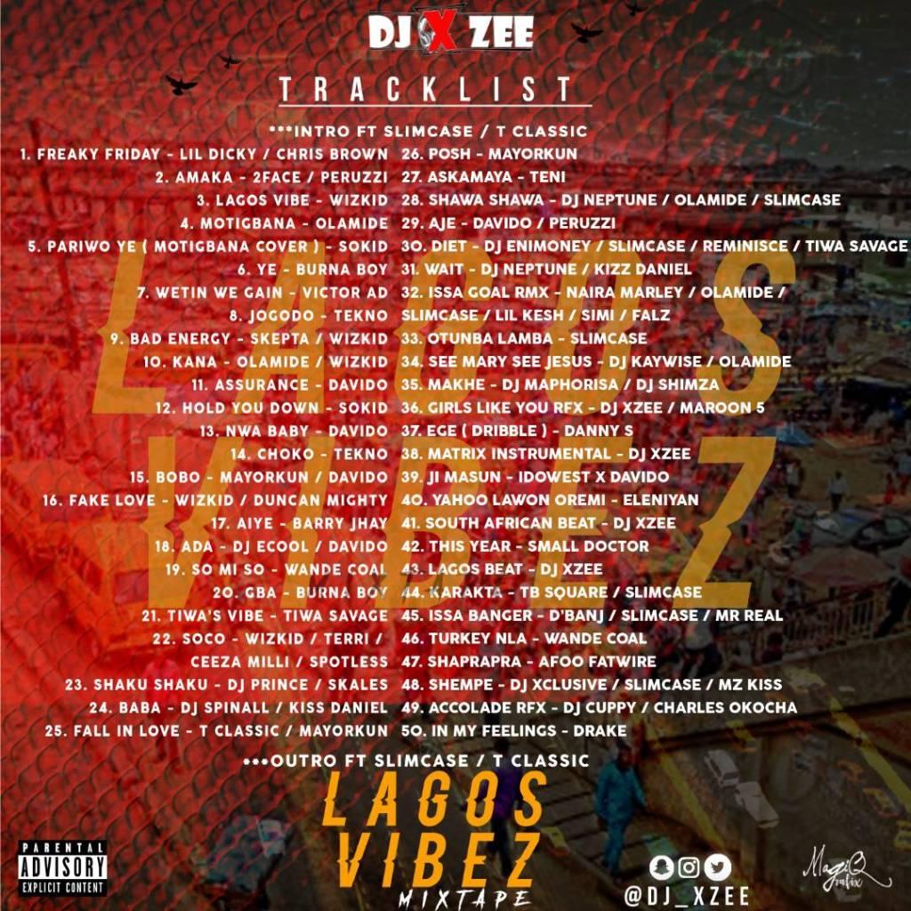 Lagos Vibez Mixtape Hosted By DJ Xzee