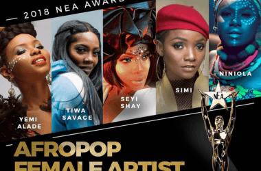 Yemi Alade, Simi & Others Bag Nods For NEA 2018