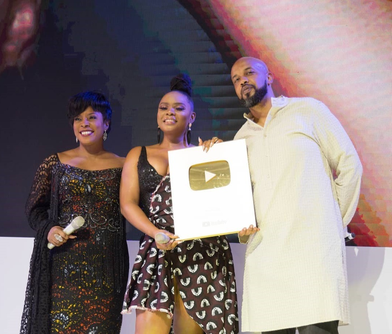 Yemi Alade Receives Gold Creator Award