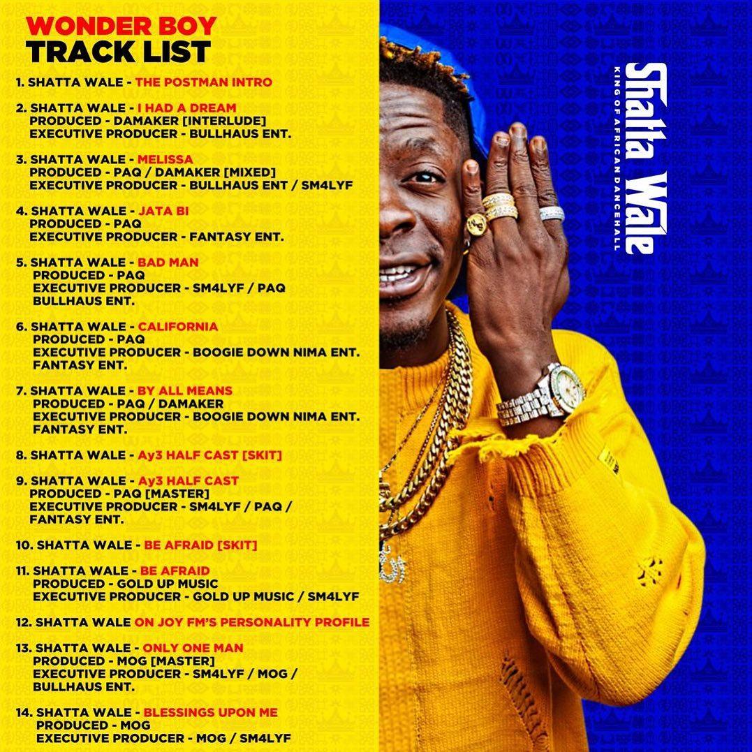 Shatta Wale – Wonder Boy Album-tracklist