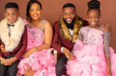 Kcee, His Wife and Kids