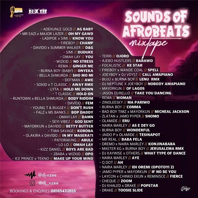 LocaaTunes x DJ Xzee – Sounds Of Afrobeat Mix_tracklist
