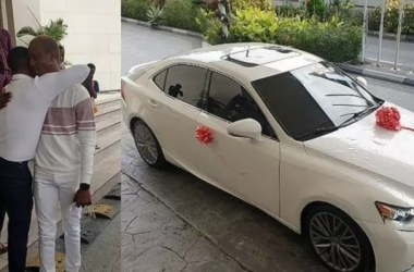 Korede Bello Bought a New Car For Manager As Birthday Gift