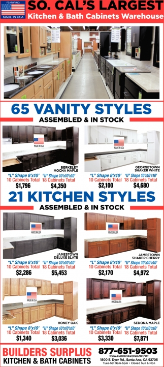 Kitchen Bath Cabinets Warehouse Builders Surplus Santa Ana Ca