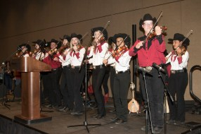 The Calgary Fiddlers got the feet stomping and the hands clapping!