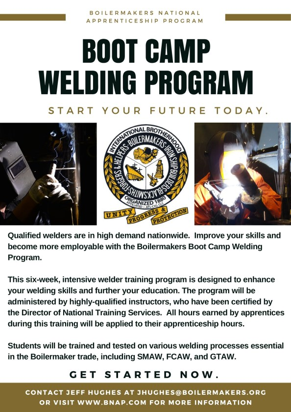 bootcamp welding flyer