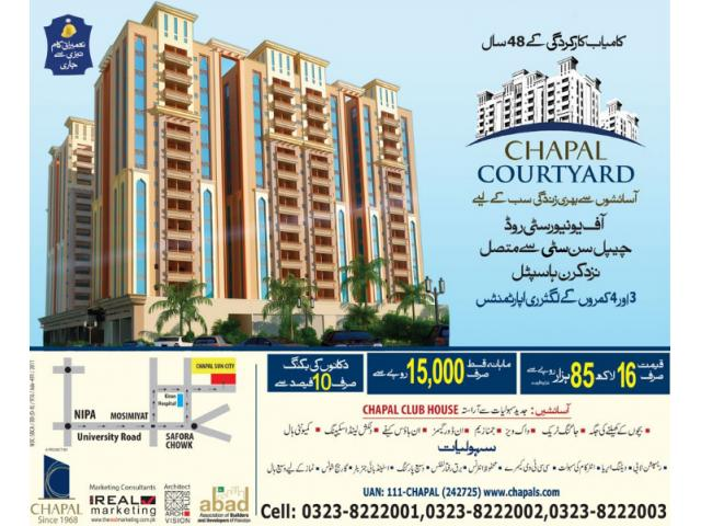 Chapal Courtyard Apartments Karachi Booking Details On Installments
