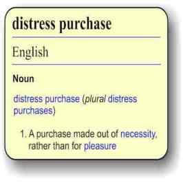 Distress purchase