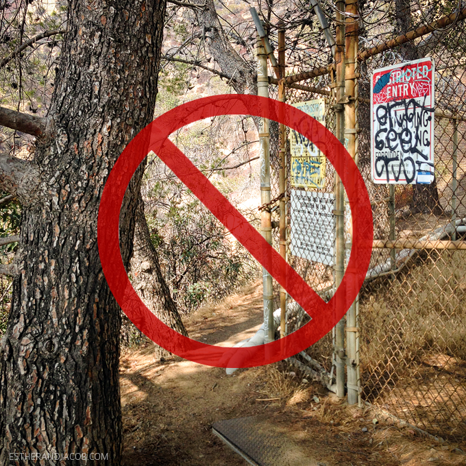 the wrong way to hike to the hollywood sign. hollywood sign hike address. hollywood sign hiking trail. hollywood sign directions. hiking the hollywood sign.
