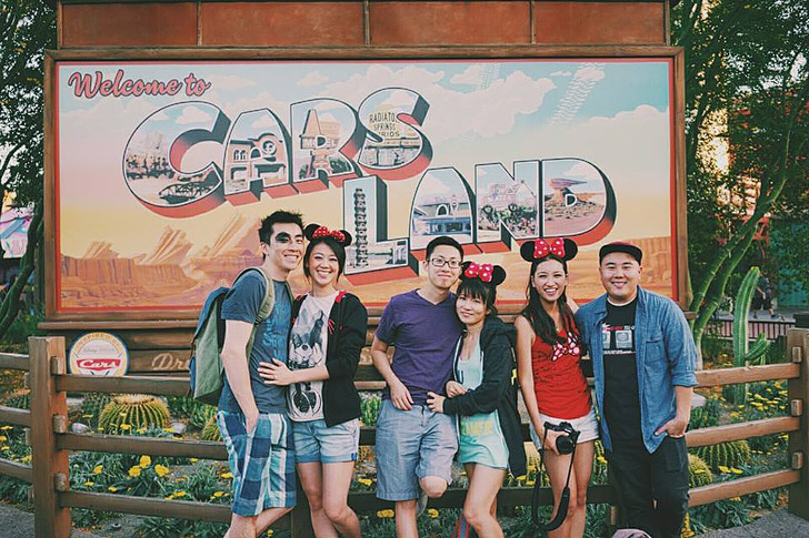 Cars Land in Disneyland | First Stop on the way to French Laundry Napa Valley.
