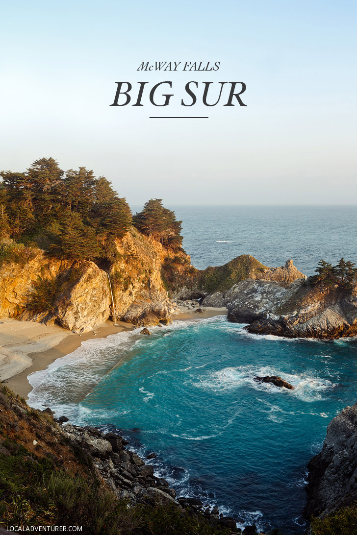West Coast Roadtrip to Mcway Falls Big Sur California - 80 ft waterfall that flows into the ocean // localadventurer.com