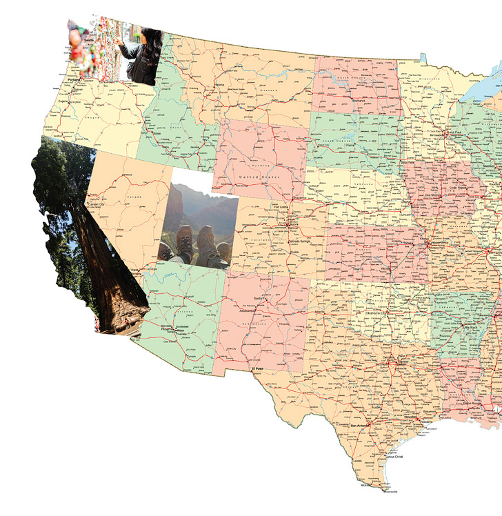 Wanderful Ways To Track Your Travels Local Adventurer - Us map photo collage