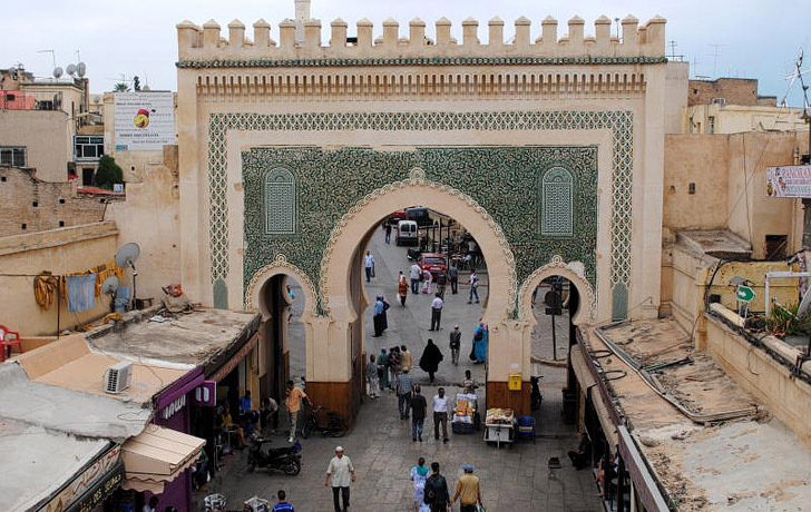 Bab Boujloud / Blue Gate Fez (21 Amazing Things to Do in Fes Morocco).