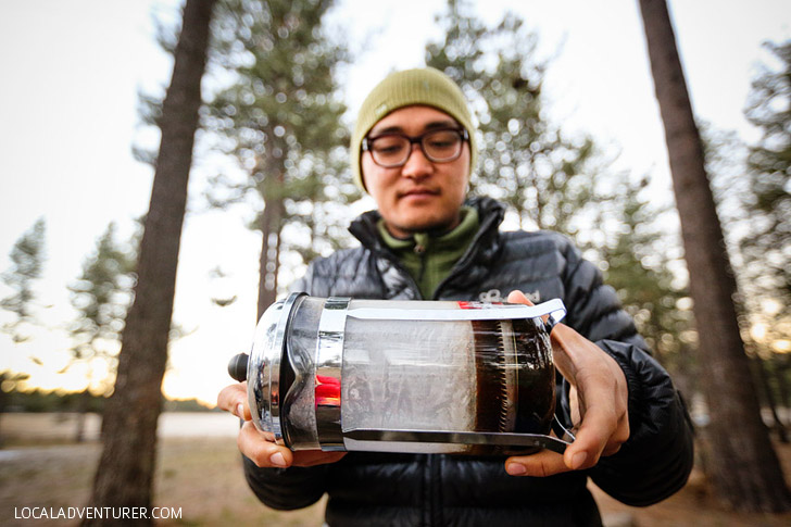 Winter Camping Tips - Turn your water bottles upside-down.