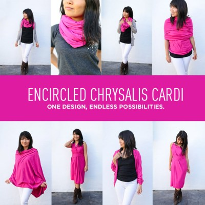 Encircled Chrysalis Cardi - A Versatile Travel Cardigan + Dress + Scarf - One Design, Endless Possibilities.