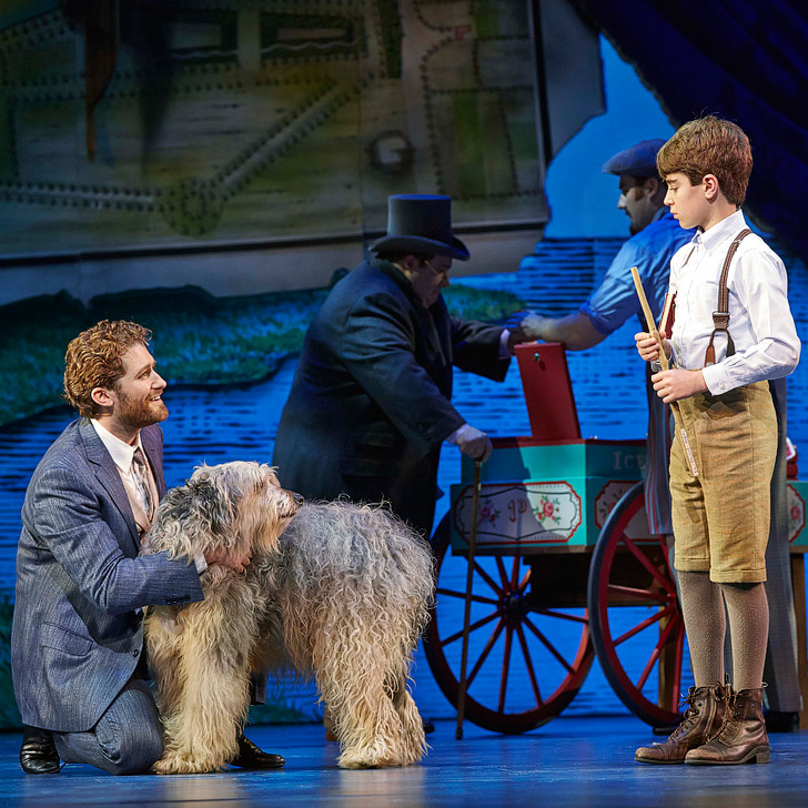 Finding Neverland the Musical at the Lunt-Fontanne Theatre.