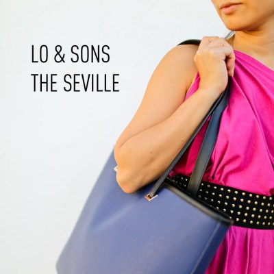 Lo and Sons Seville Bag is a laptop tote that has a removable shell that you can change out // localadventurer.com