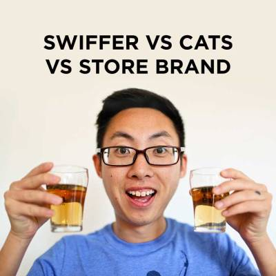 Swiffer Comparison - Swiffer vs Store Brand vs Cats // localadventurer.com