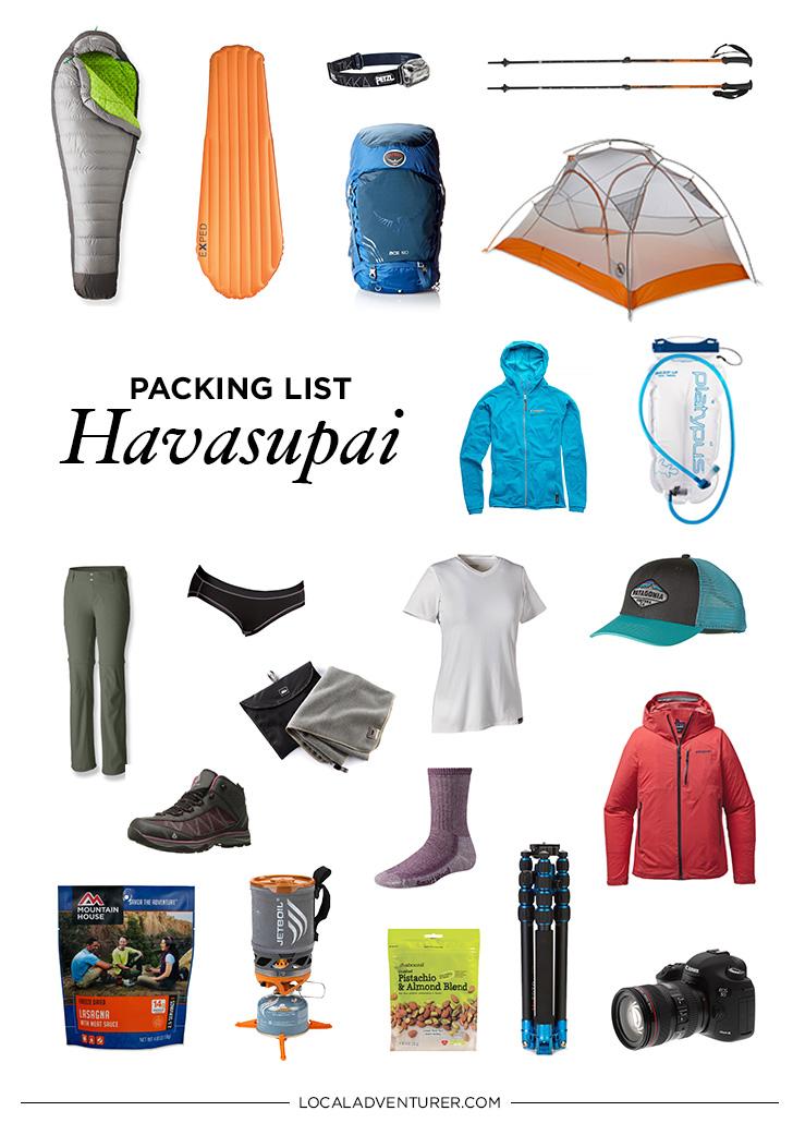 Ultimate Havasupai Packing List - Backpacking to Supai Arizona // localadventurer.com
