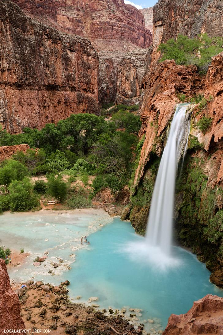 Havasu Falls, Havasupai Indian Reservation, Supai Arizona // localadventurer.com