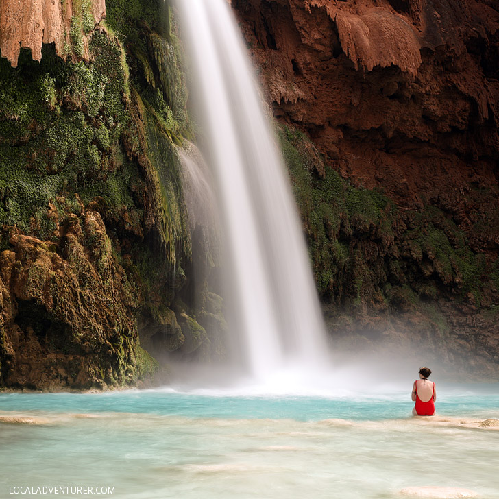 Havasu Waterfalls - there are 5 named waterfalls on the Havasupai Indian Reservation // localadventurer.com