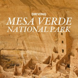 Driving Mesa Verde National Park Colorado