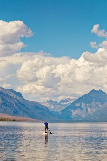 SUP Lake McDonald (+ 9 Incredible Things to Do in Glacier National Park Montana) // localadventurer.com