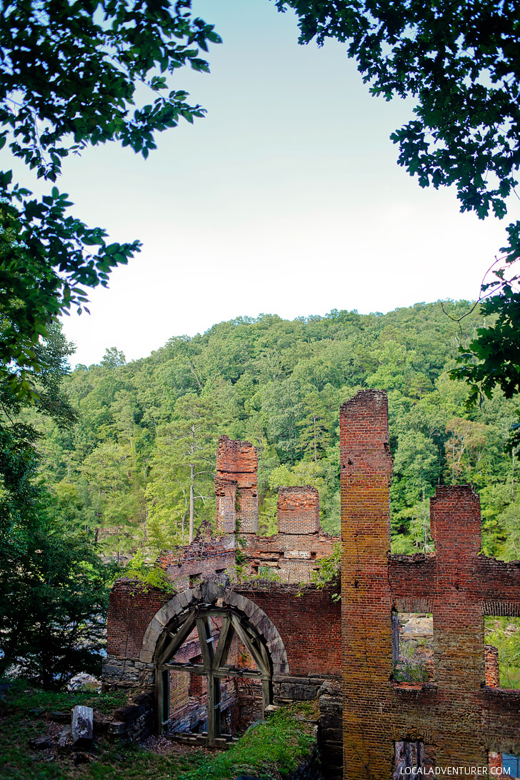 On the Set of Mockingjay - New Manchester Mill Ruins, Sweetwater Creek State Park, Georgia // localadventurer.com