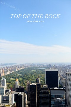 View of Central Park from Top of the Rock // localadventurer.com