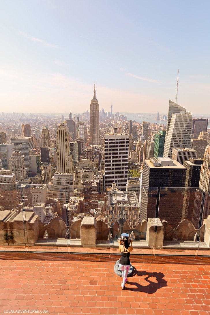 View of Empire State Building from Top of the Rock Observation Deck // localadventurer.com