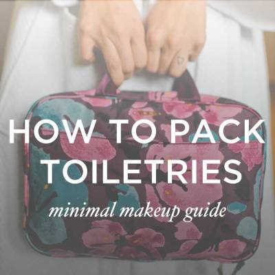 How to Pack Toiletries: A Minimal Makeup Guide // localadventurer.com