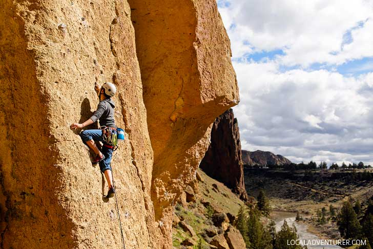 Bunny Face Smith Rock Rock Climbing 5.7 - Smith is one of the most popular climbing destinations in Oregon and the US. It has around 2000 climbing routes, but also plenty of activities even if you don't climb // localadventurer.com