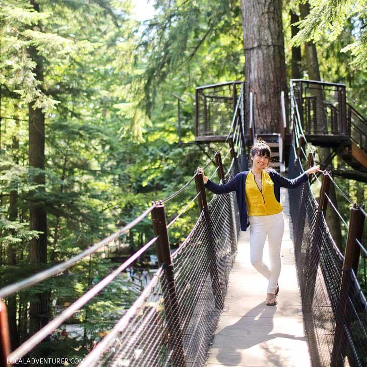 Capilano Suspension Bridge Vancouver + 15 Amazing Weekend Getaways from Portland Oregon // localadventurer.com