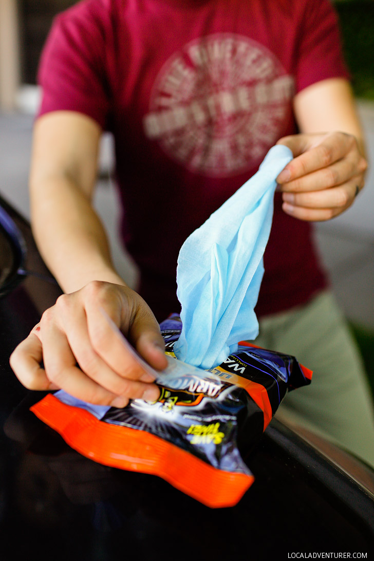 How to Clean Your Car on the Go + Armor All Cleaning Wipes Review // localadventurer.com