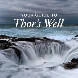 Guide to Thor's Well Cape Perpetua Scenic Area Oregon Coast
