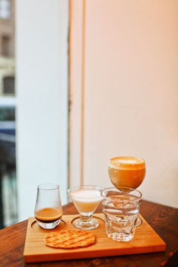 Coffee Project in East Village - You can get a deconstructed latte or nitro flight. The nitro was really smooth! + 25 Best Indoors Things to Do in NYC // localadventurer.com