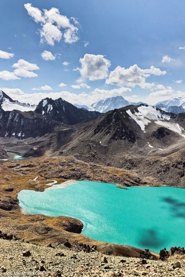 Trekking Kyrgyzstan - Tips for Hiking to Ala Kol Lake and Heart Lake // localadventurer.com