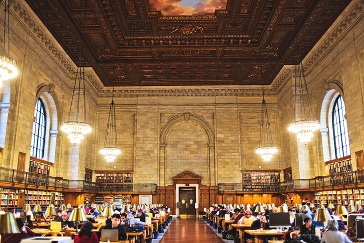 Bury your nose in a book at New York Public Library + 25 Things to Do in New York Indoors // Local Adventurer