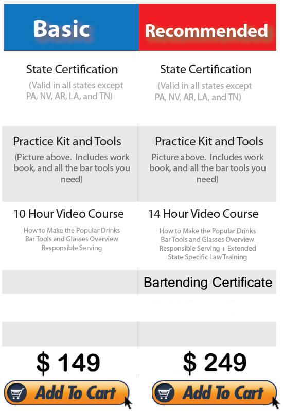 Bartending Certification School