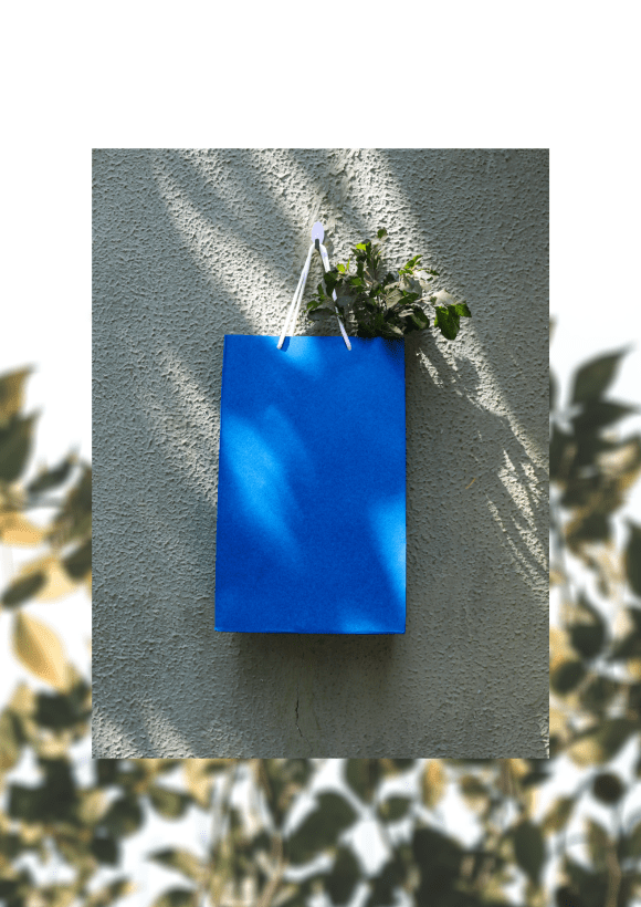 Deep Blue Paper Bag