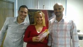 Romulo Campos (coordenador equipe Itaú WO e Pesados - Fábrica II), Ana Cristina (recuperadora premiada equipe Itaú WO e Pesados - Fábrica II) e Freitas (supervisor premiado equipe Itaú WO e Pesados - Fábrica II)