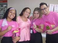 Adrian Mizael (Marketing), Cida Pires (DCFIN Matriz), Danielle Vieira e Victor Ribeiro (Marketing)