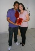 Marcio Junior e Kelly Cialdrette (administrativos) na Páscoa da filial jurídica Belo Horizonte