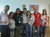 Equipe Serviços Gerais na Páscoa da Matriz
