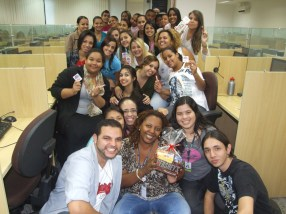 Equipe BV Telecobrança (tarde) na Páscoa da Matriz