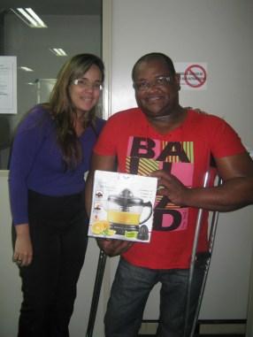 Camilla Anizio Guerra (coordenadora Vitória) e Flavio Roque da Silva (contemplado Vitória)